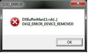 DXGI_ERROR_DEVICE_REMOVED
