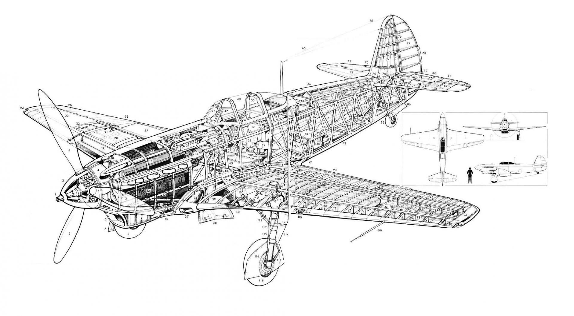 Line Drawing Yak : Burning yak wings general discussion il sturmovik forum
