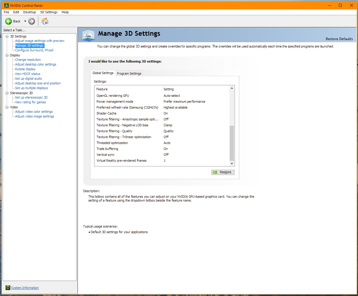 Mastiff's updated settings NVIDIA v38831 - Manuals