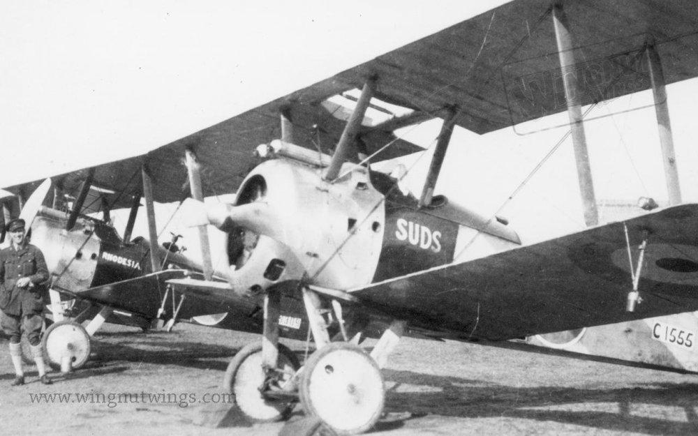 Sopwith F.1 Camel C1555 'Suds' & B6309 'Rhodesia' of 78(HD) Sqn (0653-039).jpg
