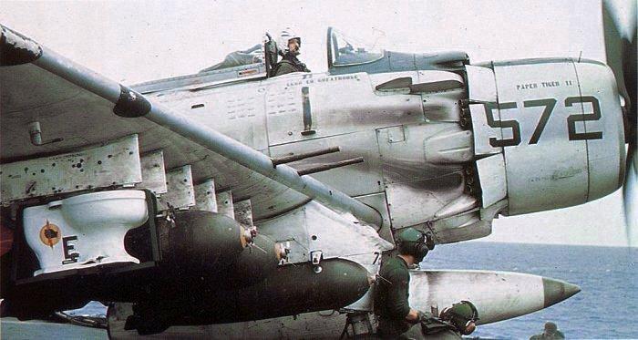 A-1H_Skyraider_of_VA-25_with_toilet_bomb.jpg