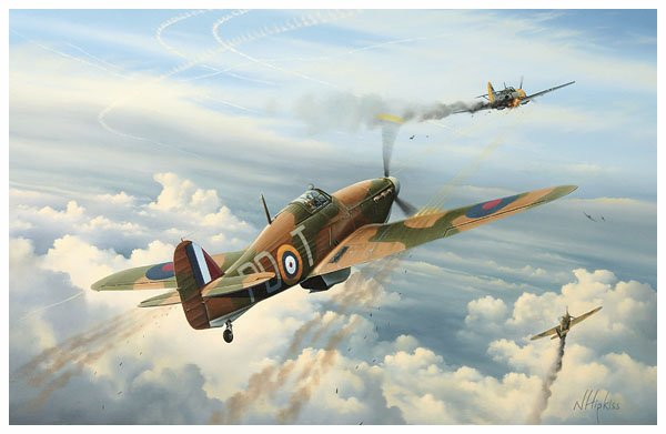 Reid's War 2 - Battle of Britain Aviation Art Print by Neil Hipkiss - 600web.jpg