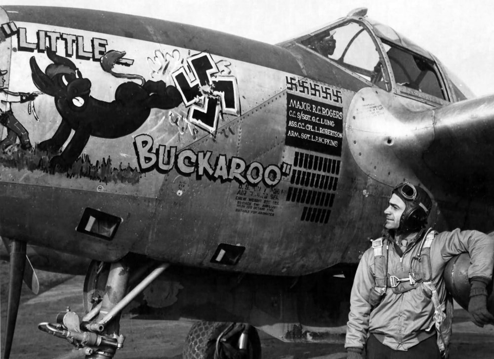P-38J_Lightning_44-23677_Little_Buckaroo_code_H5-A_pilot_Maj_Robert_Rogers_392nd_FS_367th_FG.jpg