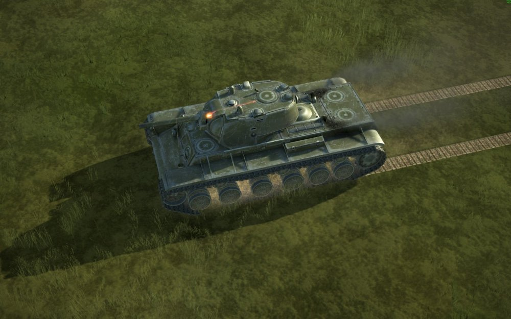 kv russian tank hit in turret by panther round.jpg